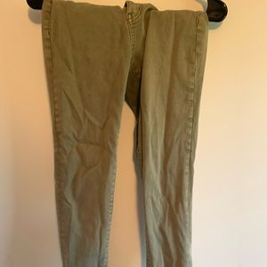 Worn Wash Hunter Green American Eagle Jean sz 4